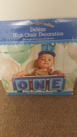 1st birthday high chair banner for Sale in UT, US