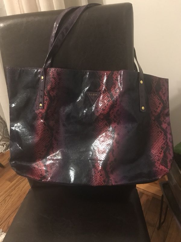 cb8412785f GUESS Purple Gradient Snakeskin Pattern Tote Bag (Jewelry   Accessories) in  Bloomington