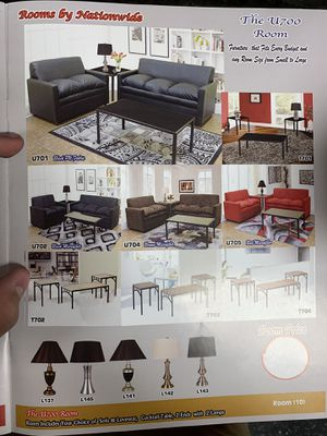 Package special(SOFA & LOVESEAT) 3pc end table. 2 lamps for only 525 for Sale in Chicago, IL