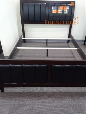 Brand New Queen Size Wood/Leather Bed Frame for Sale in Silver Spring, MD