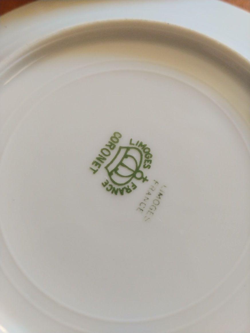 17pc Vintage Coronet Limoges France Plates handpainted