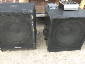 DJ equipment assorted 18in woofers amplifiers equalizers mixers Etc for Sale in Baltimore, MD