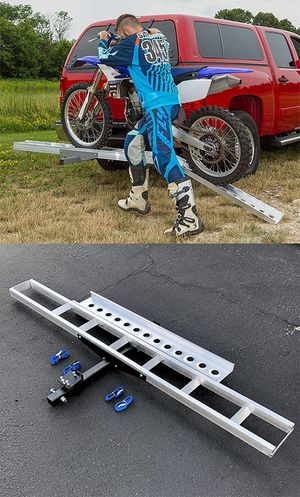 Photo New in box $75 Aluminum Foldable Motorcycle Loading Ramp, Scooter, Wheel Chair, Motorbike (Max 450 lbs)