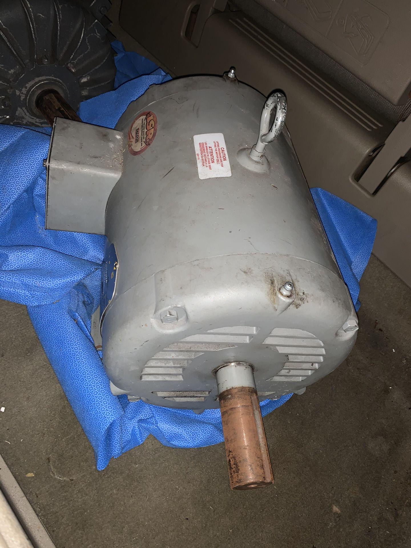 Baldor 10/7.5 hp elec motor