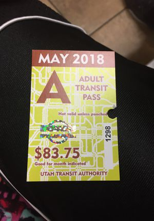May bus pass for Sale in Salt Lake City, UT