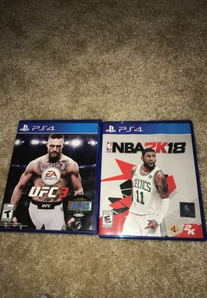 PS4 games 2K18 and UFC3 Bundle game. for Sale in Washington, DC