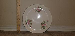 Vintage Pink Rose Motif Plate for Sale in Woodbridge, VA