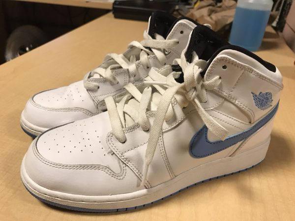 "6ed1b4660001 Nike Air Jordan 1 Mid White ""Legend Blue"" size 6.5 Youth for Sale in ..."