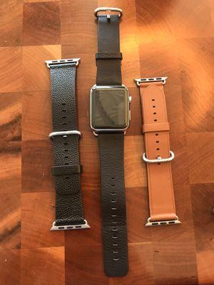 Stainless Steel Series 0 42mm Apple Watch with 3 bands. for Sale in Los Angeles, CA