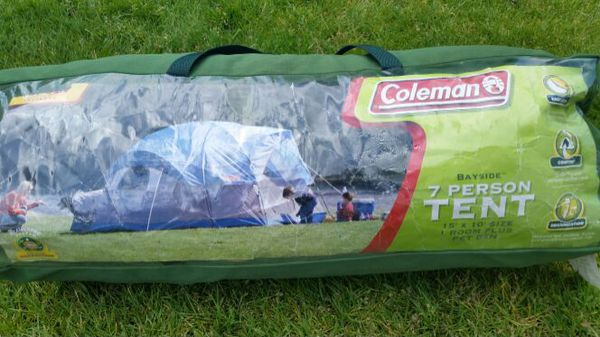 check out bace4 b18ee Coleman 7 Person Tent 15' x 10' Room & Pet Den for Sale in Auburn, WA -  OfferUp