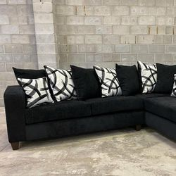 Dora Sectional Sofa Black.   🎀 🎀 SAME DAY DELIVERY 🚚🚚 🏠 😍Brand New 💰💰FINANCE AVAILABLE...  Thumbnail