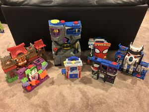 Fisher Price Imaginext playsets - includes all 7 for Sale in Clarksburg, MD