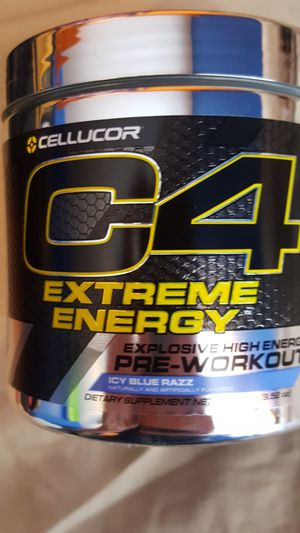 C4 Extreme Icy Blue Razz Pre-Workout for Sale in Manassas, VA