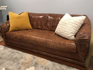 Leather couch for Sale in Fairfax, VA