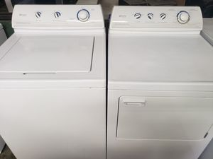 Photo Nice working heavy duty maytag performa washer and dryer set