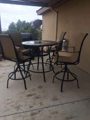 Patio set with 4 chairs & pillows for Sale in Herndon, VA