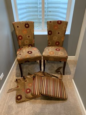 Photo Pier 1 Dining Chairs + Matching Cushions