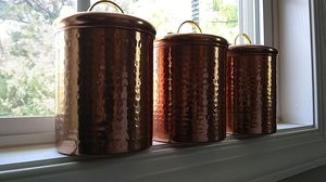 New 3 copper kitchen containers for Sale in Raleigh, NC