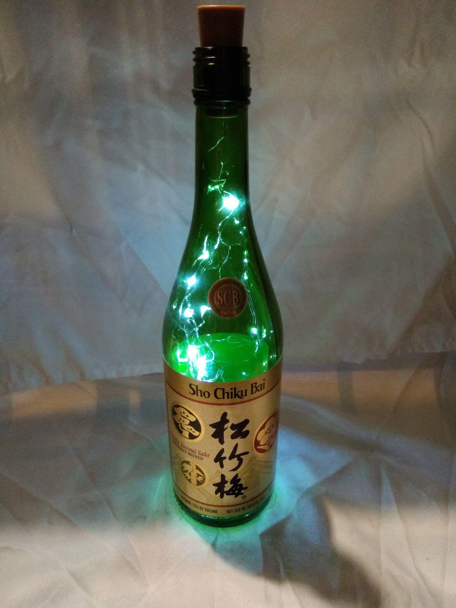 Sake bottle lamp