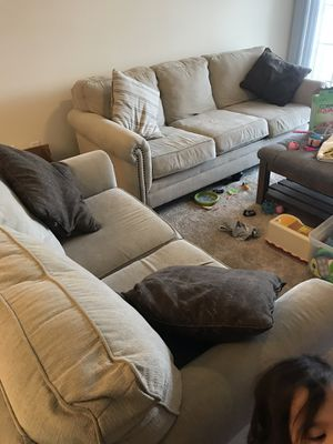 Cream sofa and love seat living room set for Sale in Fairfax, VA
