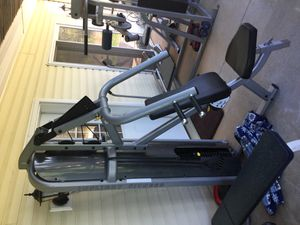 2 used in flight multi functional commercial heavy duty gym machines. chest and back Awesome for Sale in Appomattox, VA
