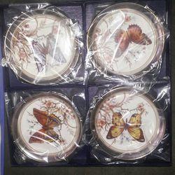 Vintage Sheridan Silver Butterfly Coasters Thumbnail