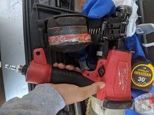 Milwaukee coil nail gun for Sale in Houston, TX