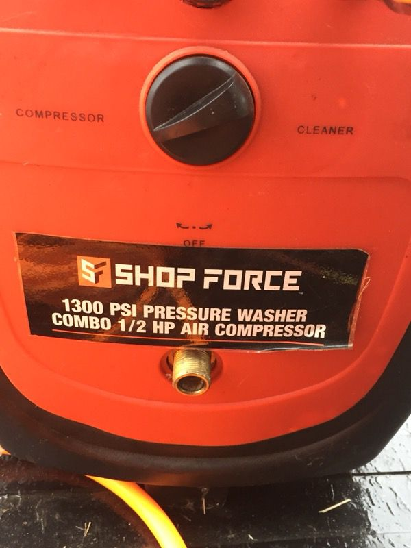 shop force pressure washer and air pressor for sale in columbus RIDGID Air Compressor 100sold