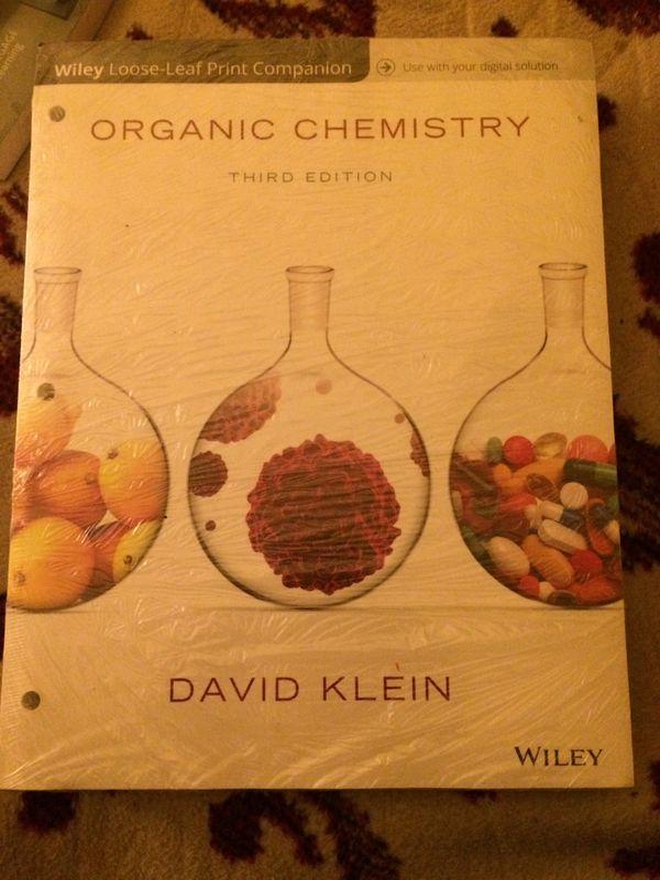 david klein organic chemistry 3rd edition wiley