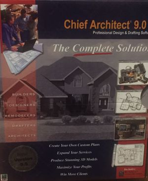 Chief Architect 9.0 & 9.5 Upgrade Professional Design & Drafting Software The Complete Solution for Sale in Pittsburgh, PA