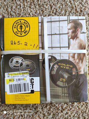 Photo Golds Gym Olympic Plate Set 50 lbs.