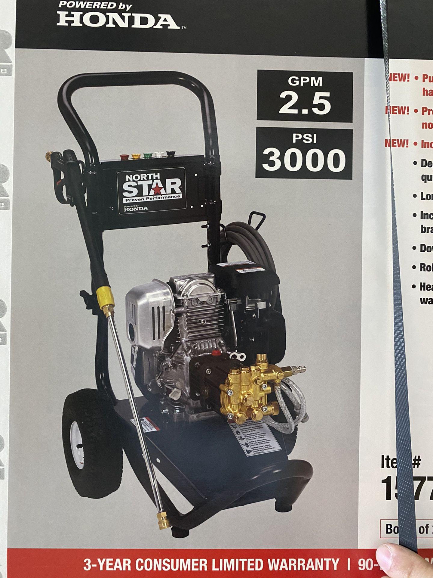 New North Star Honda Powered Pressure Washer