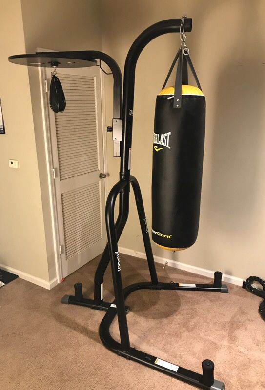 Everlast Dual Station Punching Bag Stand W 100 Lb Core