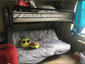 Metal bunk bed with full bed at bottom. for Sale in New York, NY