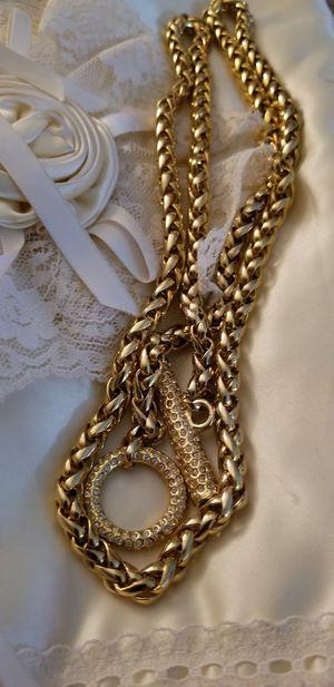 Photo Pretty 38 Gold Necklace/Pendant - CZs / Cabochons