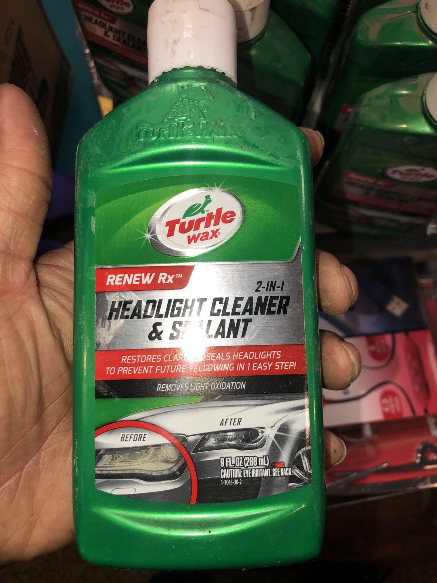 Headlight cleaner
