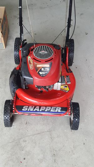 Photo Snapper commercial push mower
