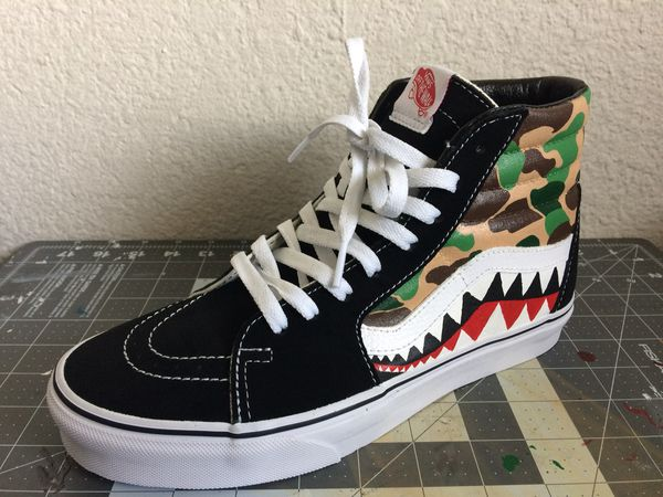 Custom Bape Sk8 hi Vans for Sale in Auburn, WA OfferUp
