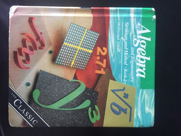 Algebra and Trigonometry : Structure and Method, Book 2 for Sale in Bonita,  CA - OfferUp