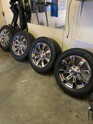 "Photo 20"" factory GM chevy rims and tires!!!!!"