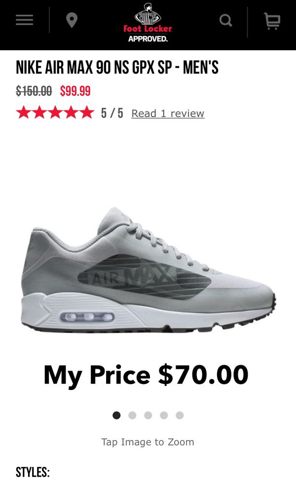 online retailer cb7bc 1fc99 Nike Air Max 90 NS GPX SP (Brand New) for Sale in Irvine, CA - OfferUp