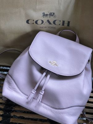 Photo Brand New Pink Coach backpack Purse $378 Tags Mother's Day gift leather soft