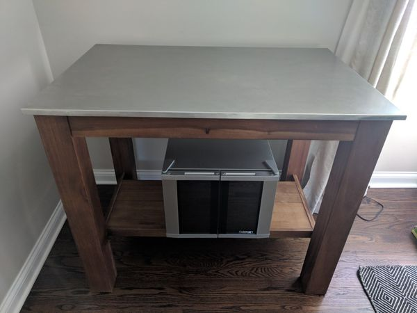 West Elm Rustic Kitchen Island & Stools for Sale in Frankfort, IL - OfferUp