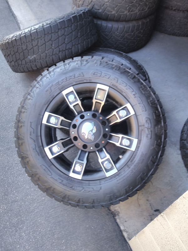 "18"" Metal Mulisha Rims And Nitto Terra Grappler Tires For"