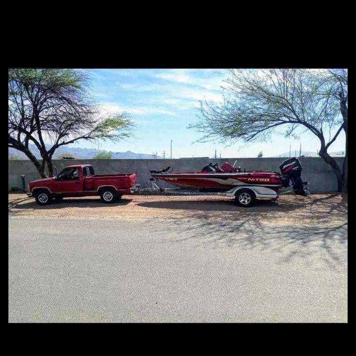 Photo Combo Chevy Short Bed At Nitro Bass Boat
