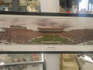 "Penn State football stadium panoramic framed photograph, measures 15 x 40.5"" for Sale in Chesterfield, VA"