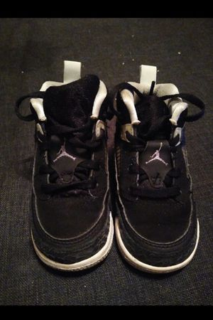 Photo Nike Jordan Spizike Toddler Black Grey White 317701-004 Size 7C