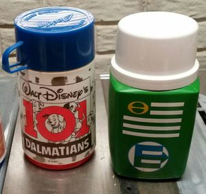 Vintage lunchbox thermos bottles (2) for Sale in Mount Airy, MD