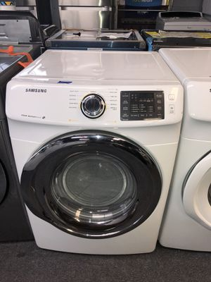 SAMSUNG STEAM GAS DRYER. NEVER USED. 12 month warranty included. for Sale in Houston, TX