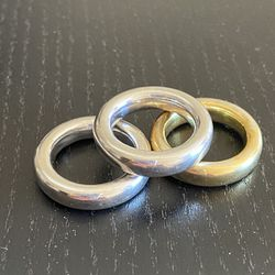 Rings: Sterling silver rhodium plated size 6,25 Thumbnail